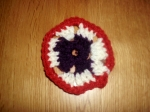My first bit of crochet. It is, (ahem) a 'square'. Just 228 more to go and, hey presto, I have an 'easy-to-make' crochet blanket!??